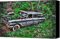Blue Buick Canvas Prints - Honey-Where Did I Park The Car Canvas Print by Dan Stone