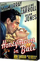 1930s Movies Canvas Prints - Honeymoon In Bali, Fred Macmurray Canvas Print by Everett
