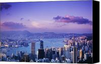 Asian Art Canvas Prints - Hong Kong Harbor Canvas Print by Gloria & Richard Maschmeyer - Printscapes