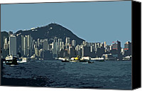 Architectur Canvas Prints - Hong Kong Island ... Canvas Print by Juergen Weiss