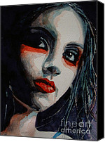 Lips  Painting Canvas Prints - Honky Tonk Woman Canvas Print by Paul Lovering