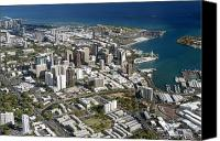 Honolulu Photo Canvas Prints - Honolulu Aerial II Canvas Print by Peter French