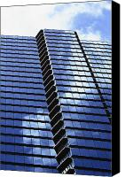 Brandon Tabiolo Canvas Prints - Honolulu Skyscraper Canvas Print by Brandon Tabiolo - Printscapes
