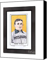 Baseball Pastels Canvas Prints - Honus Wager Canvas Print by Jay Kinney
