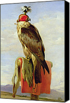 Roost Canvas Prints - Hooded Falcon Canvas Print by Sir Edwin Landseer
