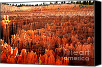 Bryce Canyon Canvas Prints - Hoodoos  at Sunrise Canvas Print by Robert Bales