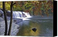 Autumn Photographs Canvas Prints - Hooker Falls in Autumn Canvas Print by Rob Travis