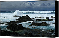 Beach Photograph Digital Art Canvas Prints - Hookipa  -  Maui North Shore Hawaii Canvas Print by Sharon Mau