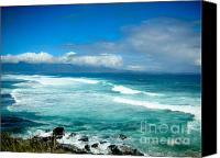 Beach  Wind Surfing Canvas Prints - Hookipa Beach  Canvas Print by Kelly Wade