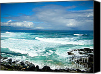 Beach  Wind Surfing Canvas Prints - Hookipa Beach Maui Canvas Print by Kelly Wade