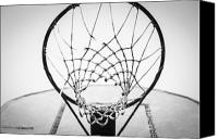 Sports Art Digital Art Canvas Prints - Hoop Dreams Canvas Print by Susan Stone