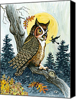 Great Painting Canvas Prints - Hooty Hoot Canvas Print by Richard De Wolfe