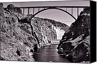 Colorado Pyrography Canvas Prints - Hoover Dam Bridge Canvas Print by Andre Salvador