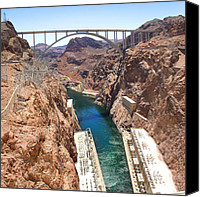Power Lines Canvas Prints - Hoover Dam Bridge Canvas Print by Mike McGlothlen