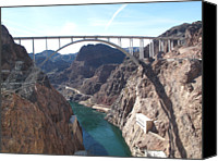 Dam Canvas Prints - Hoover Dam Canvas Print by Marianna Sulic