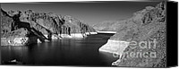 Dam Canvas Prints - Hoover Dam Reservoir - Architecture on a grand scale Canvas Print by Christine Till