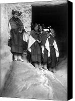 Hairstyle Photo Canvas Prints - Hopi Maidens, 1906 Canvas Print by Granger