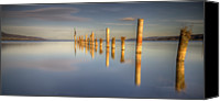Wooden Post Canvas Prints - Horizon Canvas Print by Philippe Saire - Photography