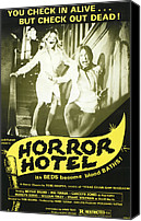 1960s Poster Art Canvas Prints - Horror Hotel, Aka City Of The Dead Canvas Print by Everett