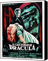 1950s Movies Canvas Prints - Horror Of Dracula Aka Le Cauchemar De Canvas Print by Everett
