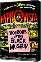 1959 Movies Canvas Prints - Horrors Of The Black Museum, 1959 Canvas Print by Everett