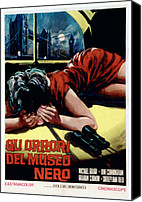 1950s Poster Art Canvas Prints - Horrors Of The Black Museum Aka Gli Canvas Print by Everett