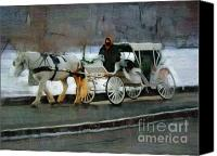 Horse Carriage Canvas Prints - Horse and Carriage Canvas Print by Deborah MacQuarrie