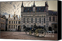 Horse Carriage Canvas Prints - Horse and Carriage Canvas Print by Joan Carroll