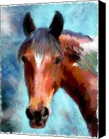 Horses Mixed Media Canvas Prints - Horse of Another Color Canvas Print by Colleen Taylor