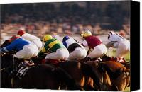 Track Racing Canvas Prints - Horse Racing, Phoenix Park, Dublin Canvas Print by The Irish Image Collection