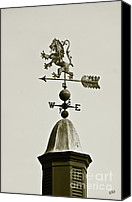 Fine Photography Art Canvas Prints - Horse Weathervane In Sepia Canvas Print by Ben and Raisa Gertsberg