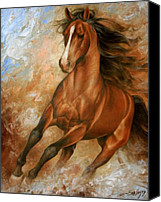 Wild Horse Canvas Prints - Horse1 Canvas Print by Arthur Braginsky