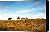 Horseback Canvas Prints - Horseback Riding Canvas Print by Carlos Caetano
