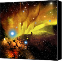 Solar Rings Canvas Prints - Horsehead Nebula Canvas Print by Corey Ford