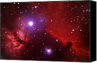 Nebula Canvas Prints - Horsehead Nebula In The Belt Of Orion Canvas Print by A. V. Ley