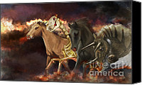 Evil Canvas Prints - Horses Of The Apocalypse Canvas Print by Kate Black