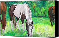 Patrick Mills Canvas Prints - Horses  Canvas Print by Patrick Mills