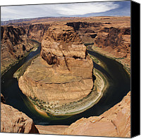 Dam Canvas Prints - Horseshoe Bend Canvas Print by Mike McGlothlen
