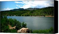 Southern Rocky Mountains Canvas Prints - Horsetooth Reservoir Summer Canvas Print by Aaron Burrows