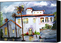 Carlin Blahnik Painting Canvas Prints - Hospitality House Canvas Print by Carlin Blahnik