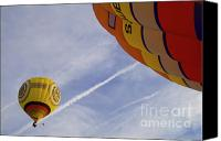 Inspirational Photograph Canvas Prints - Hot-air Balloning Canvas Print by Heiko Koehrer-Wagner