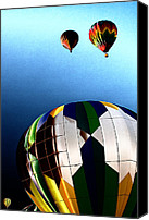 Hot Air Balloons Canvas Prints - Hot Air Balloon Color Canvas Print by David Patterson