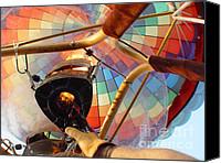 Gold Glove Canvas Prints - Hot Air Balloon Canvas Print by Geri Harkin-Tuckett