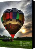 Hot Air Balloon Canvas Prints - Hot Air Ballooning at Dusk - Hot Air Balloon  Canvas Print by Lee Dos Santos