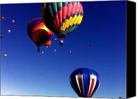 Balloon Fiesta Canvas Prints - Hot Air Balloons Canvas Print by Jera Sky