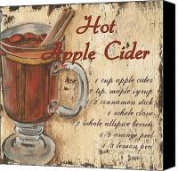 Hot Painting Canvas Prints - Hot Apple Cider Canvas Print by Debbie DeWitt