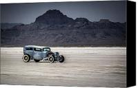 Hot Rod Car Canvas Prints - Hot Rod Bonneville Salt Flats 2012 Canvas Print by Holly Martin