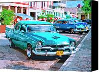 Havana Daydreams Canvas Prints - Hot Rod Canvas Print by Dominic Piperata