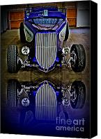 Drive Canvas Prints - Hot Rod Reflection Canvas Print by Perry Webster