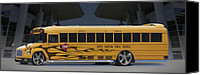 Activity Canvas Prints - Hot Rod School Bus Canvas Print by Mike McGlothlen